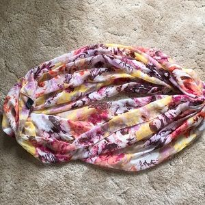 Floral lightweight infinity scarf